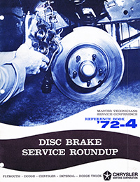 1972 Mopar Disc Brake Service