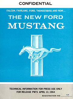 1964 Ford Mustang Press Packet
