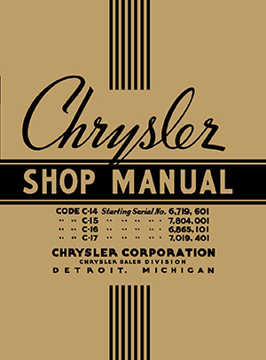 1937 Chrysler Shop Manual