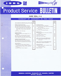 June-Sept GM of Canada Product Service Bulletins