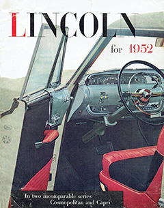 1952 Lincoln Full Line Brochure