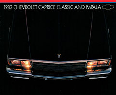 1983 Caprice Classic and Impala Brochure
