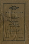 1924 Chevrolet Superior Owners Manual