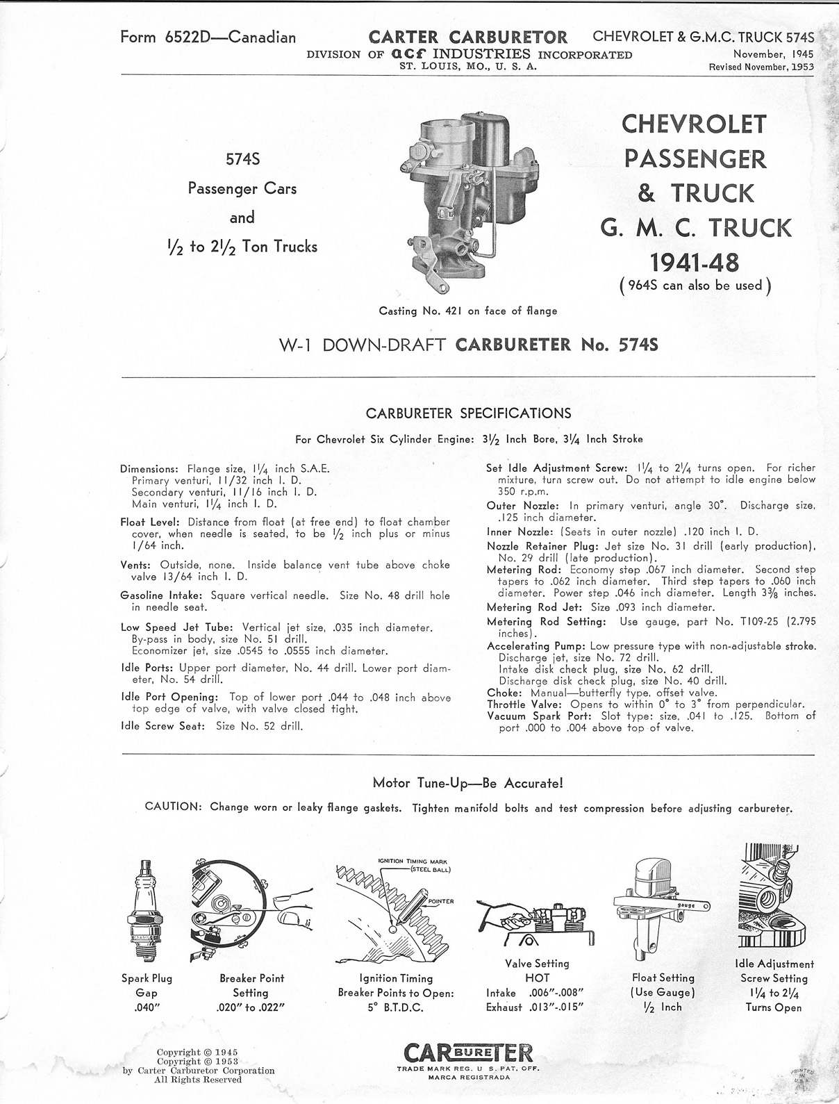 Carter W   1    Service Procedures  The Old Car    Manual    Project
