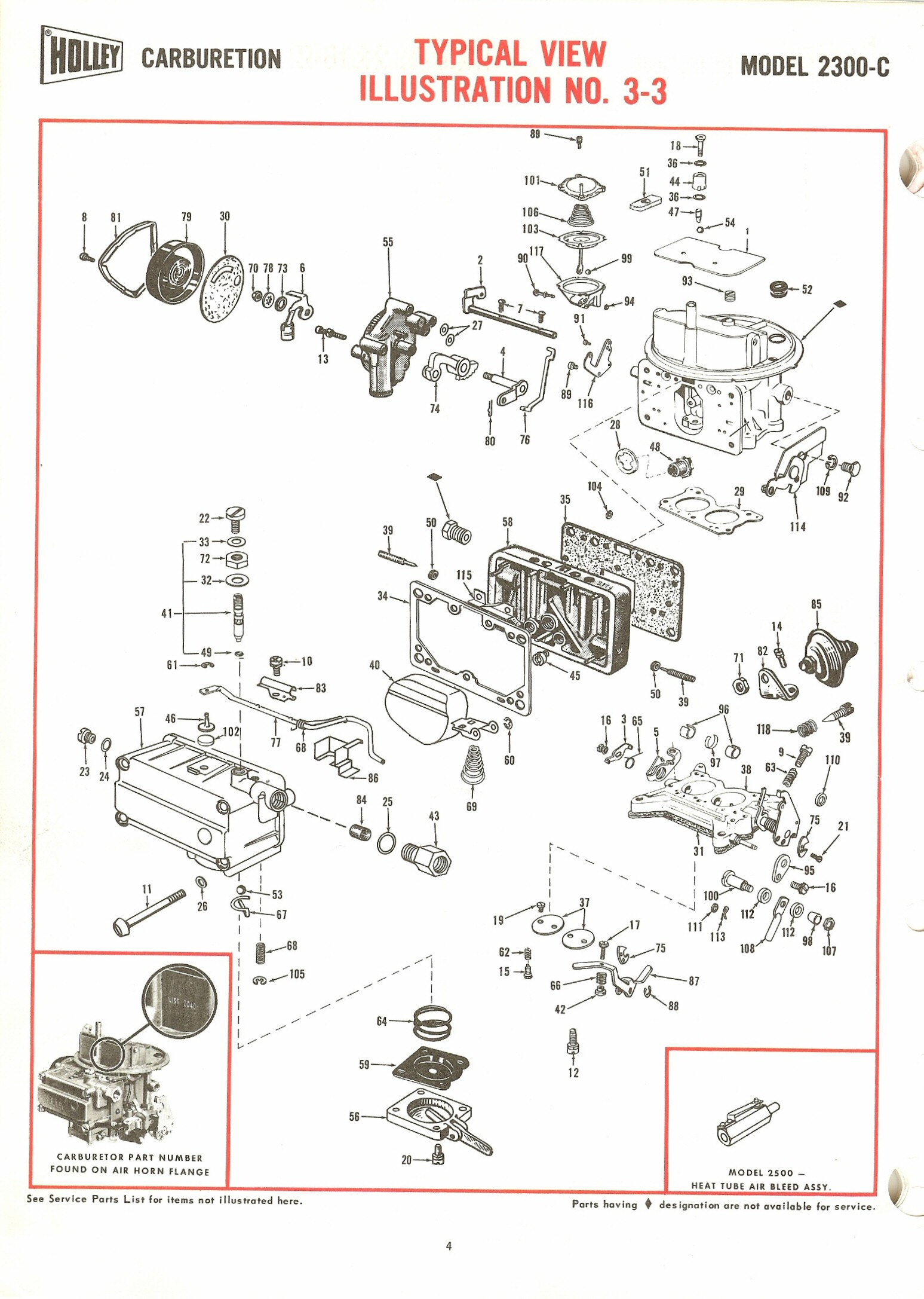 Holley 2300c Exploded Diagrams