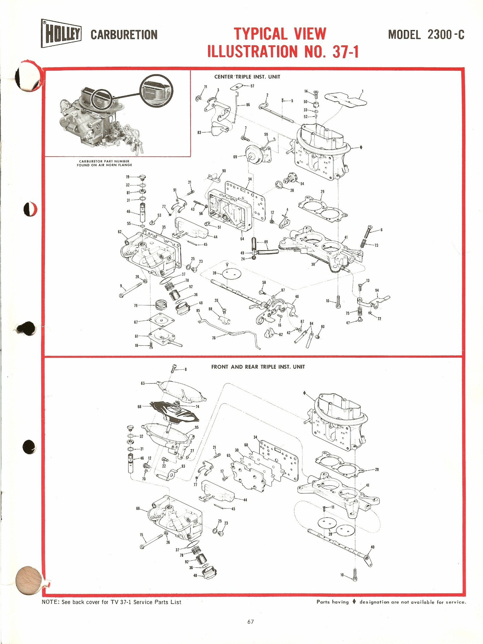 holley 2300c exploded diagrams the old car manual project rh oldcarmanualproject com