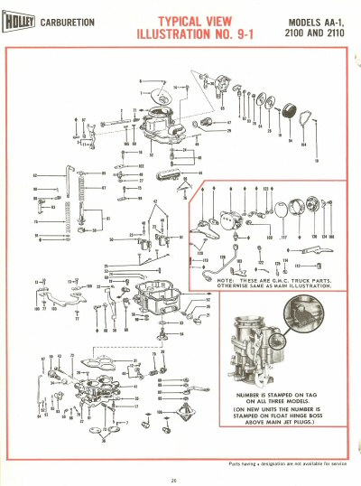 Holley Aa-1  2100 And 2110 Exploded Diagrams