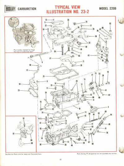 Holley 2209 Exploded Diagrams