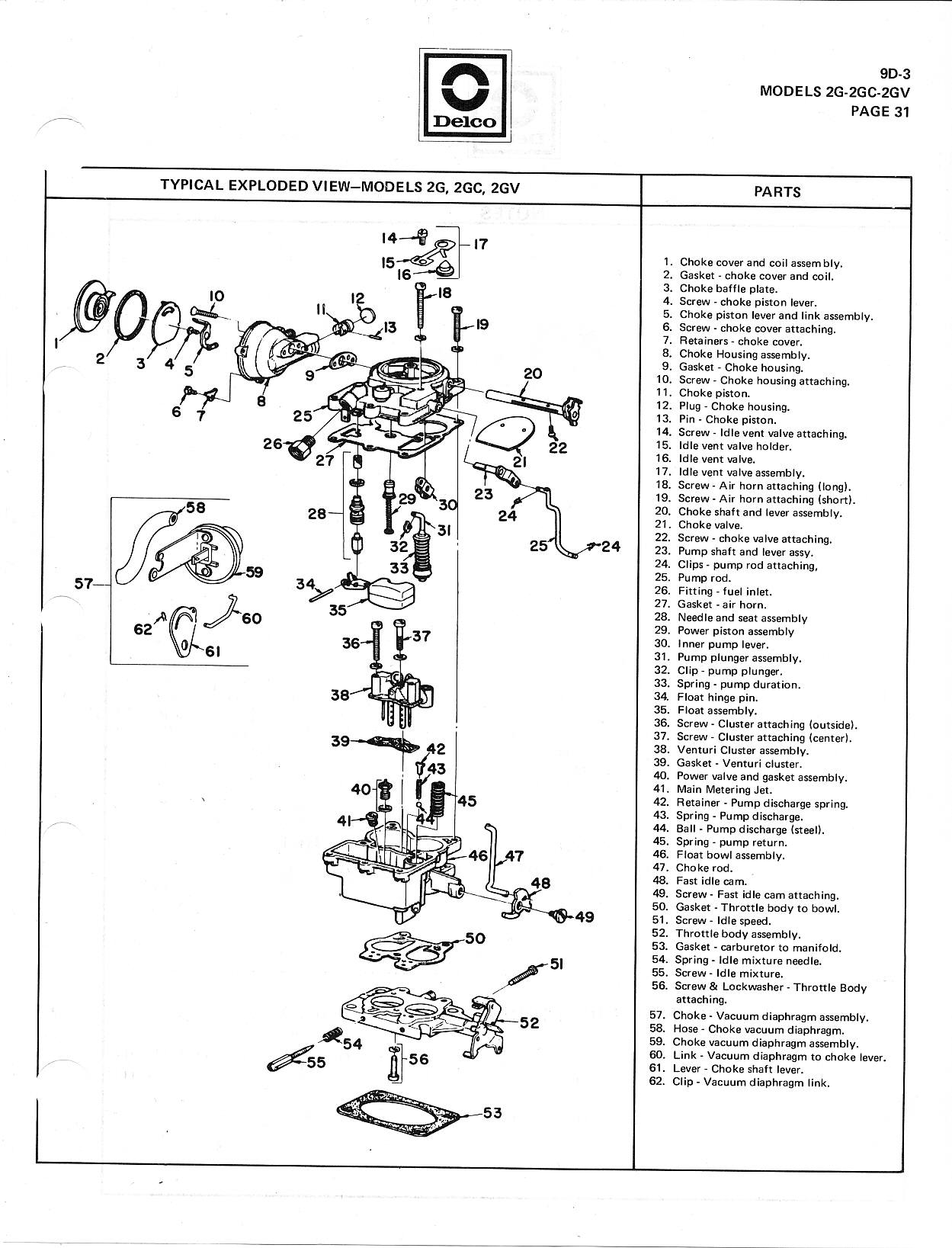 Rochester 2 Jet Carb Manual The Old Car Project Vauum Engine Choke Valve Diagram Contd Vacuum Break Throttle And Idle Adjustments A C Cec Adjustment