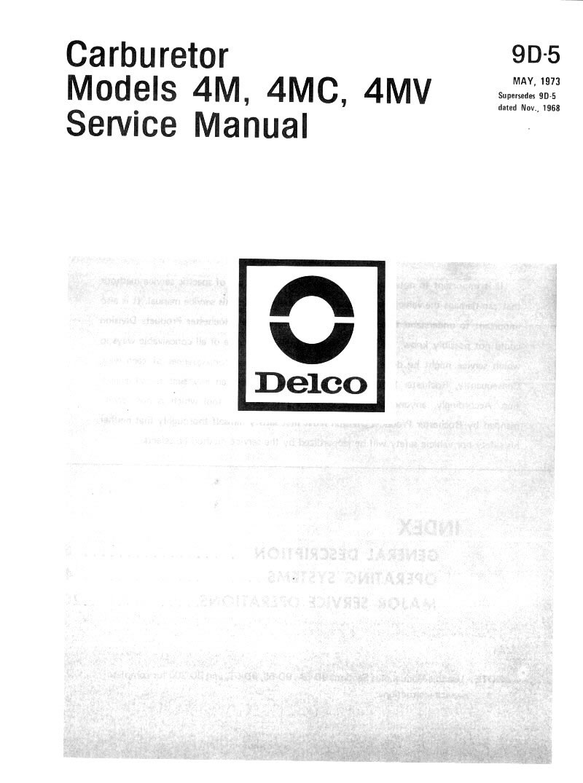 rochester quadrajet manual 7042244