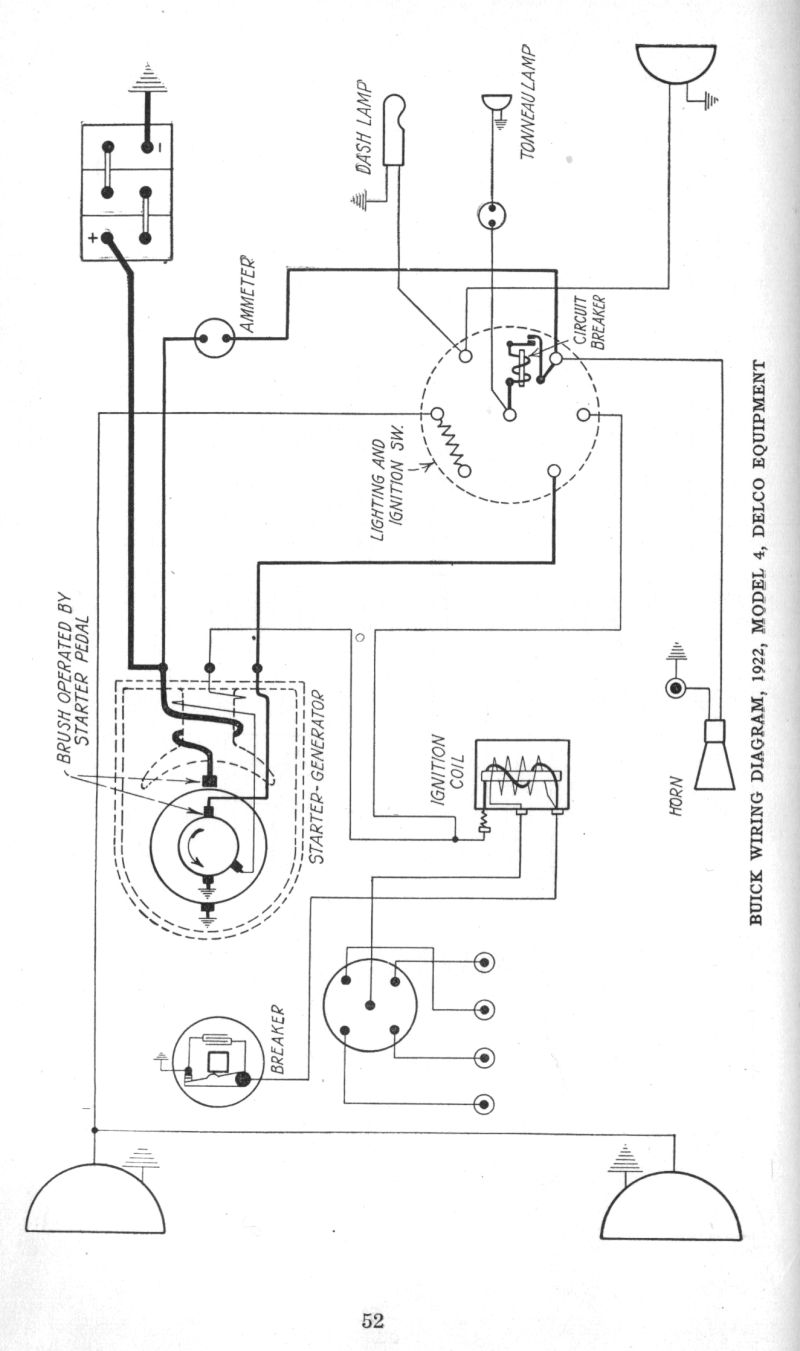 early 1920 s apperson and buick wiring diagrams the old car 1922 buick model 4 diagram