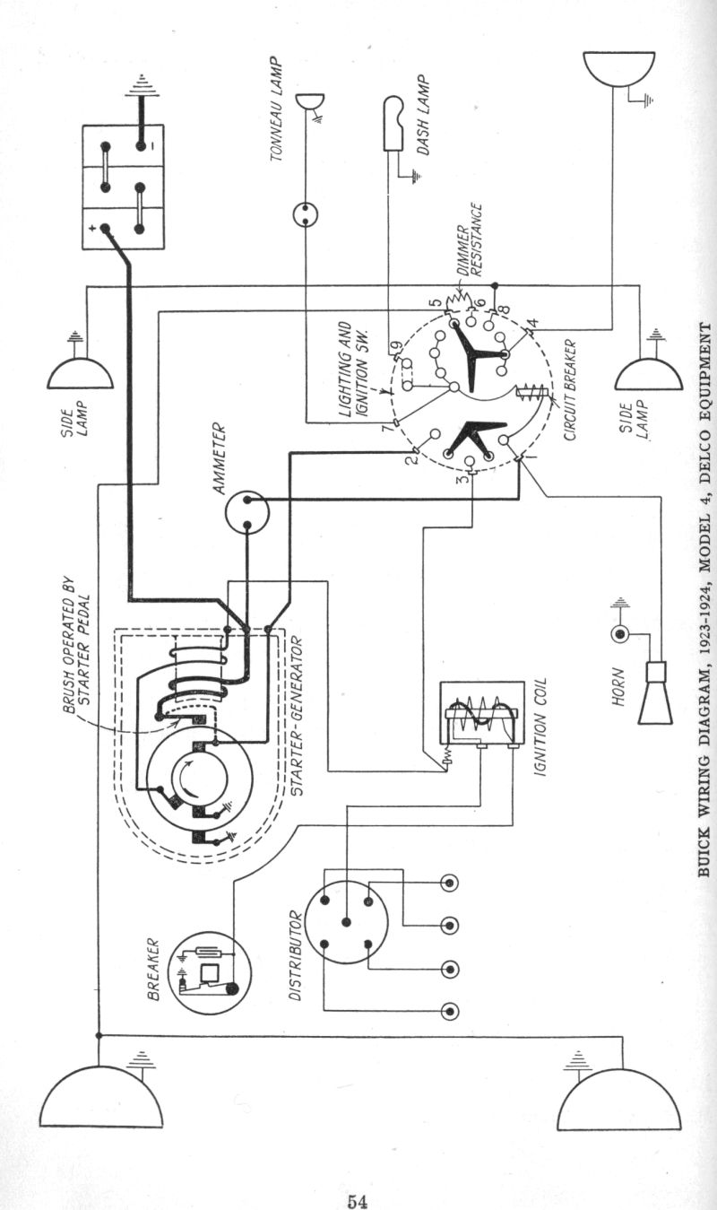 early 1920 s apperson and buick wiring diagrams the old car 1923 24 buick specs