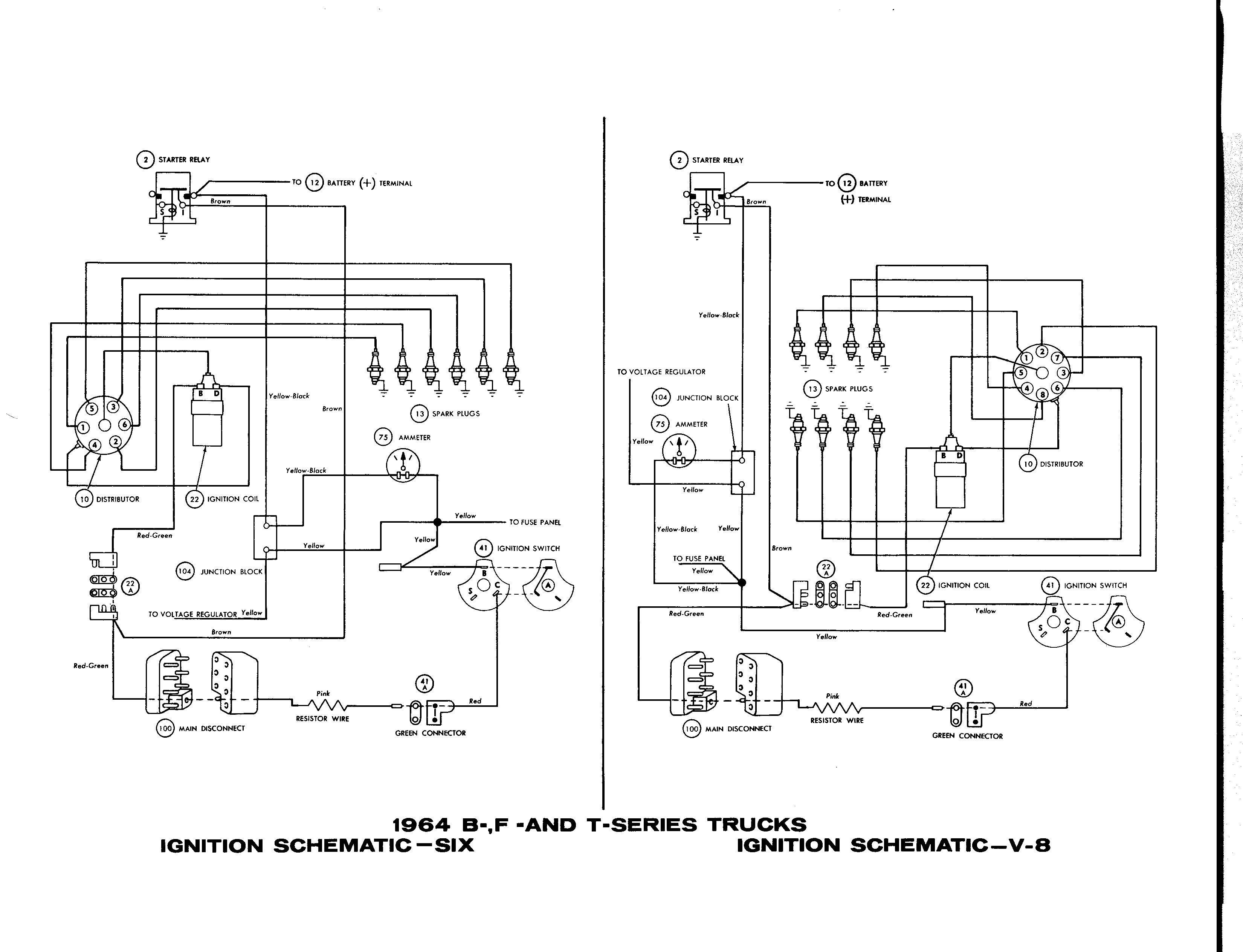Exterior Light Turn Signals And Horns Wiring Diagrams Of 1966 Signal Diagram Ford 1964 Wire Data Schema U2022