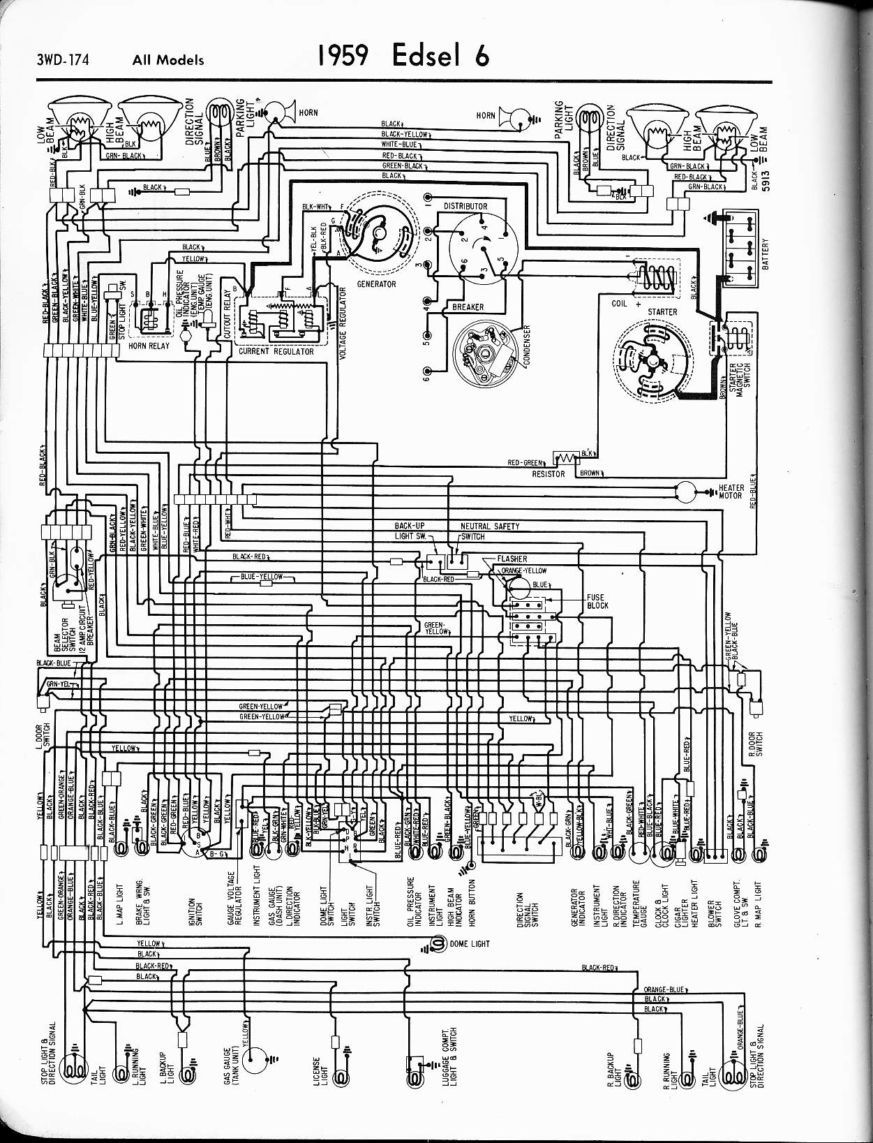 edsel wiring diagrams rh oldcarmanualproject com Ford Ignition System Wiring Diagram Ford Ignition System Wiring Diagram