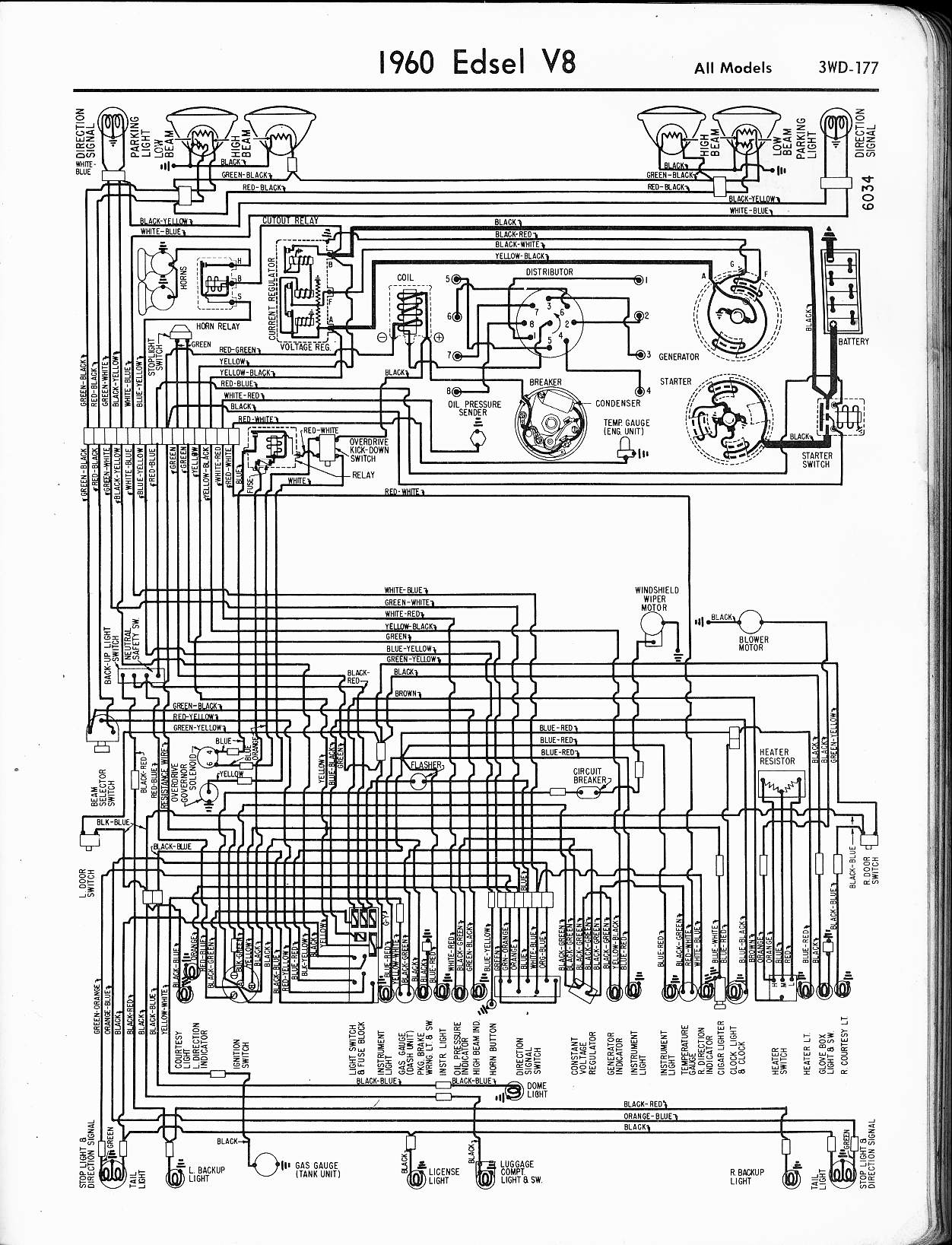 edsel wiring diagrams1958 Ford Edsel Ranger On 1958 Edsel Citation Wiring Diagram For Ford #7