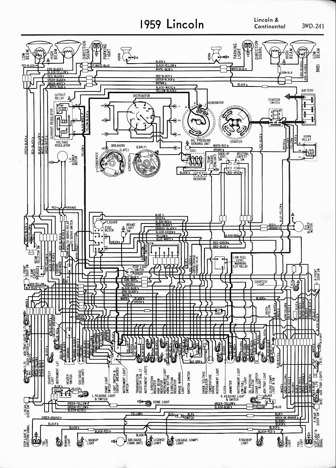 57-65 Lincoln Wiring Diagrams