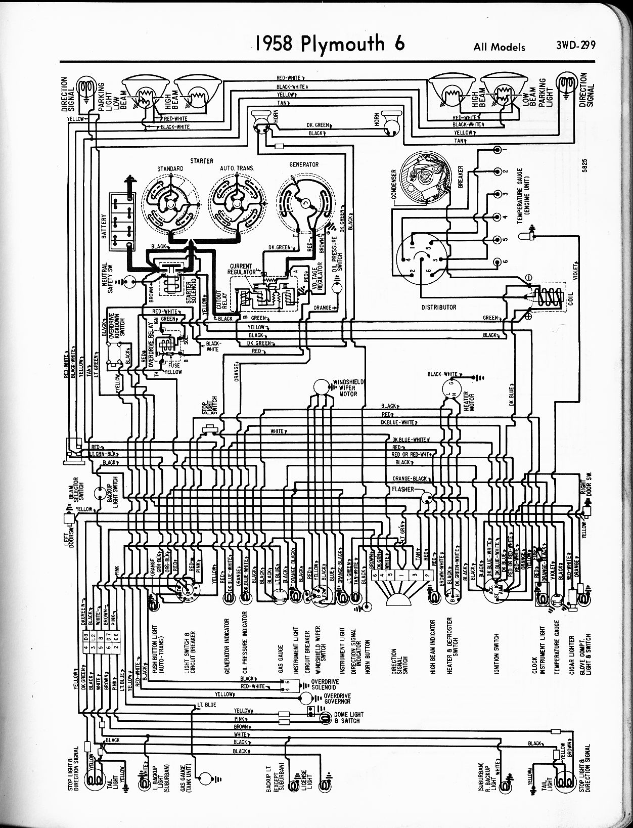 1956 - 1965 Plymouth Wiring