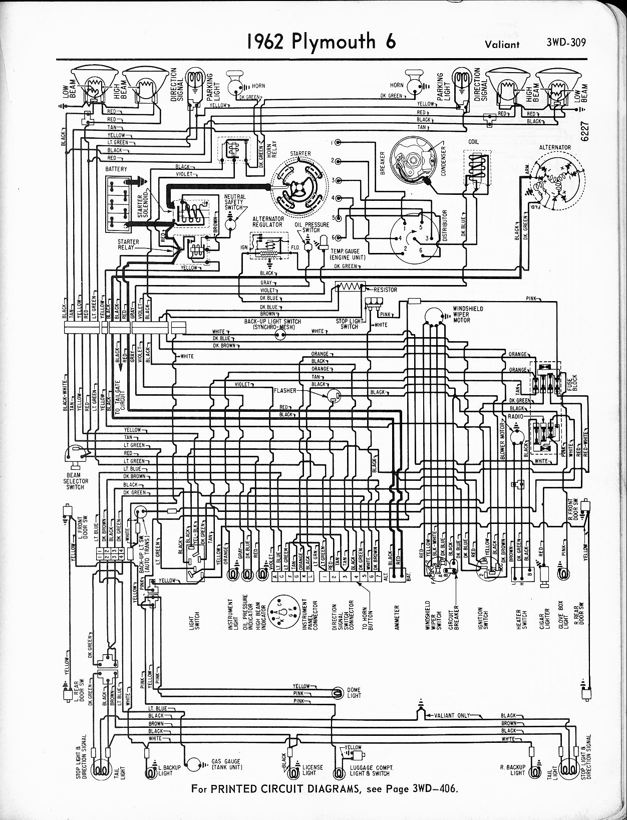 1956 - 1965 plymouth wiring - the old car manual project 1974 plymouth scamp wiring diagram