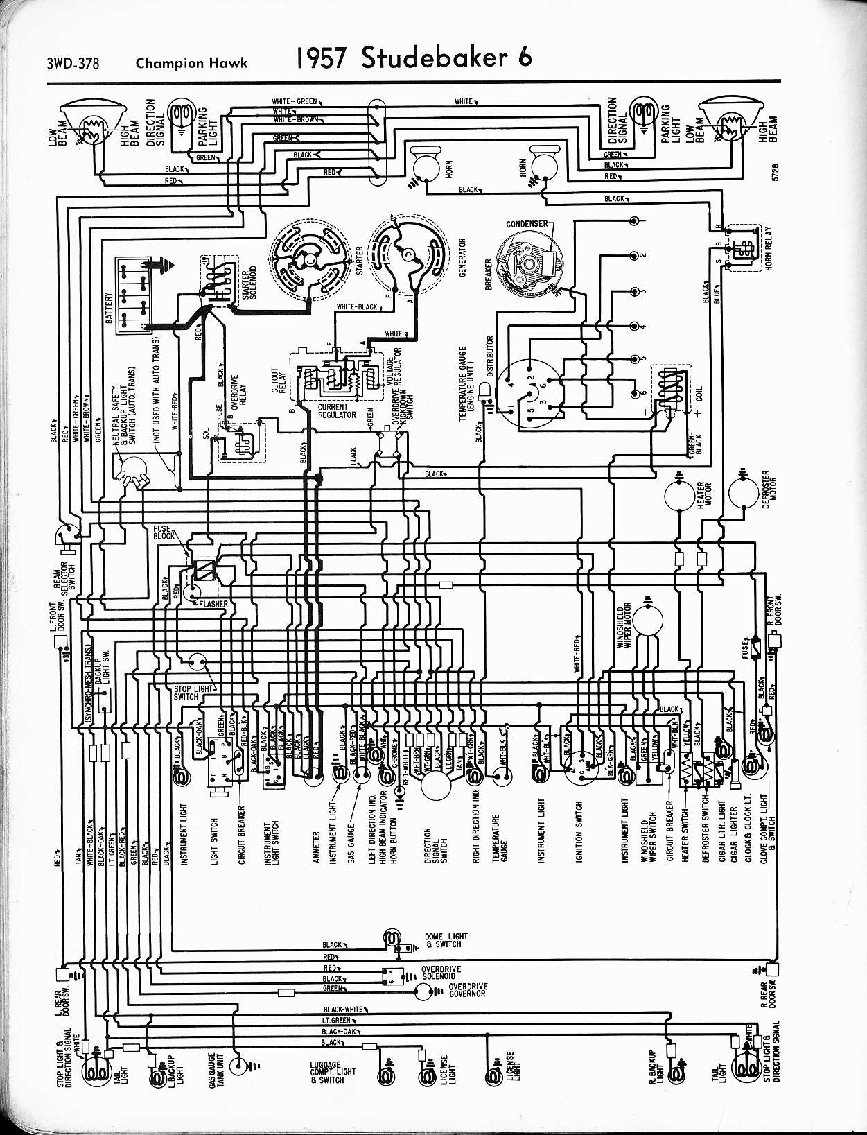 studebaker wiring diagrams the old car manual project studebaker wiring diagrams