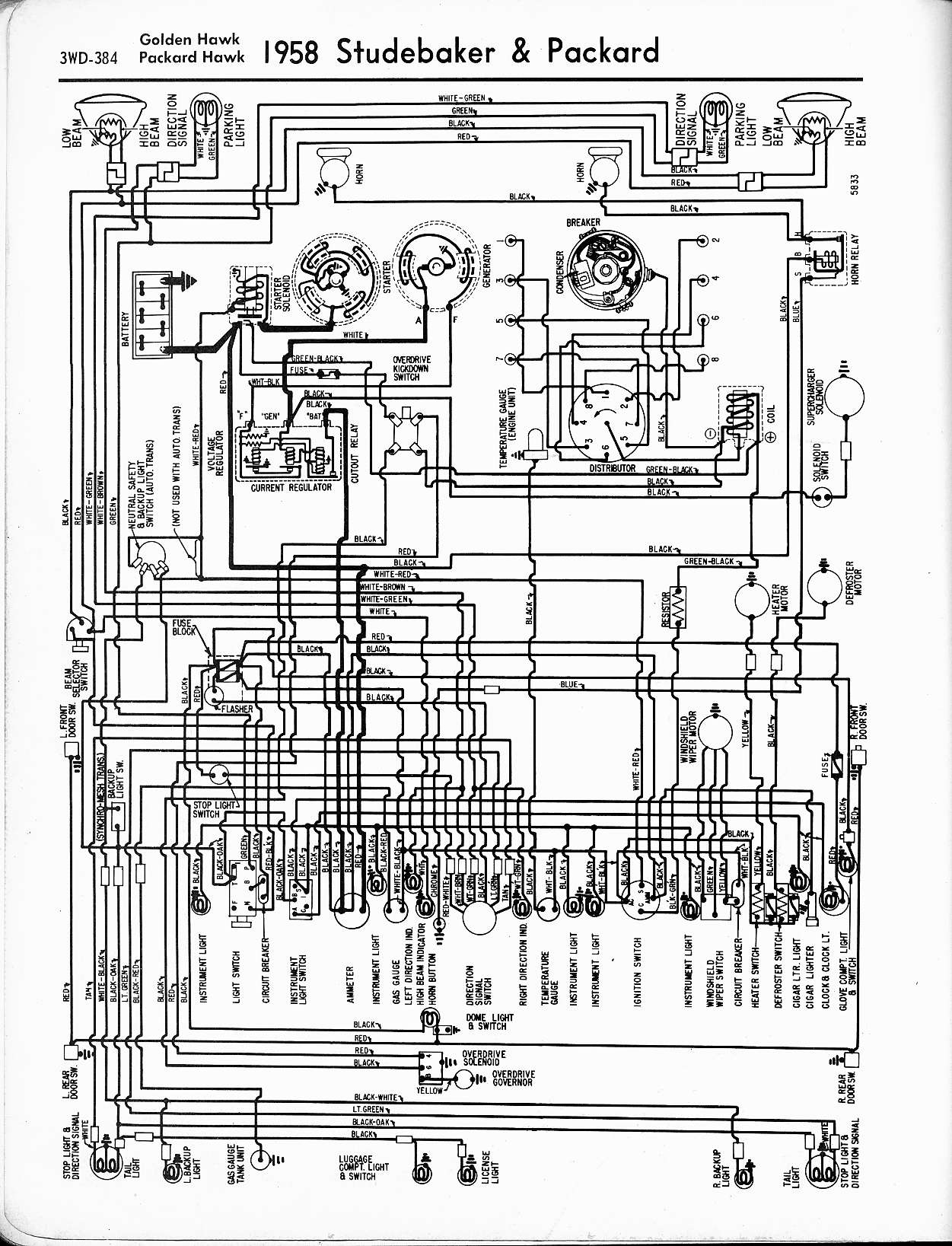studebaker wiring diagrams the old car manual project rh oldcarmanualproject com 2002 Cadillac DeVille Wiring-Diagram 1962 cadillac deville wiring diagram