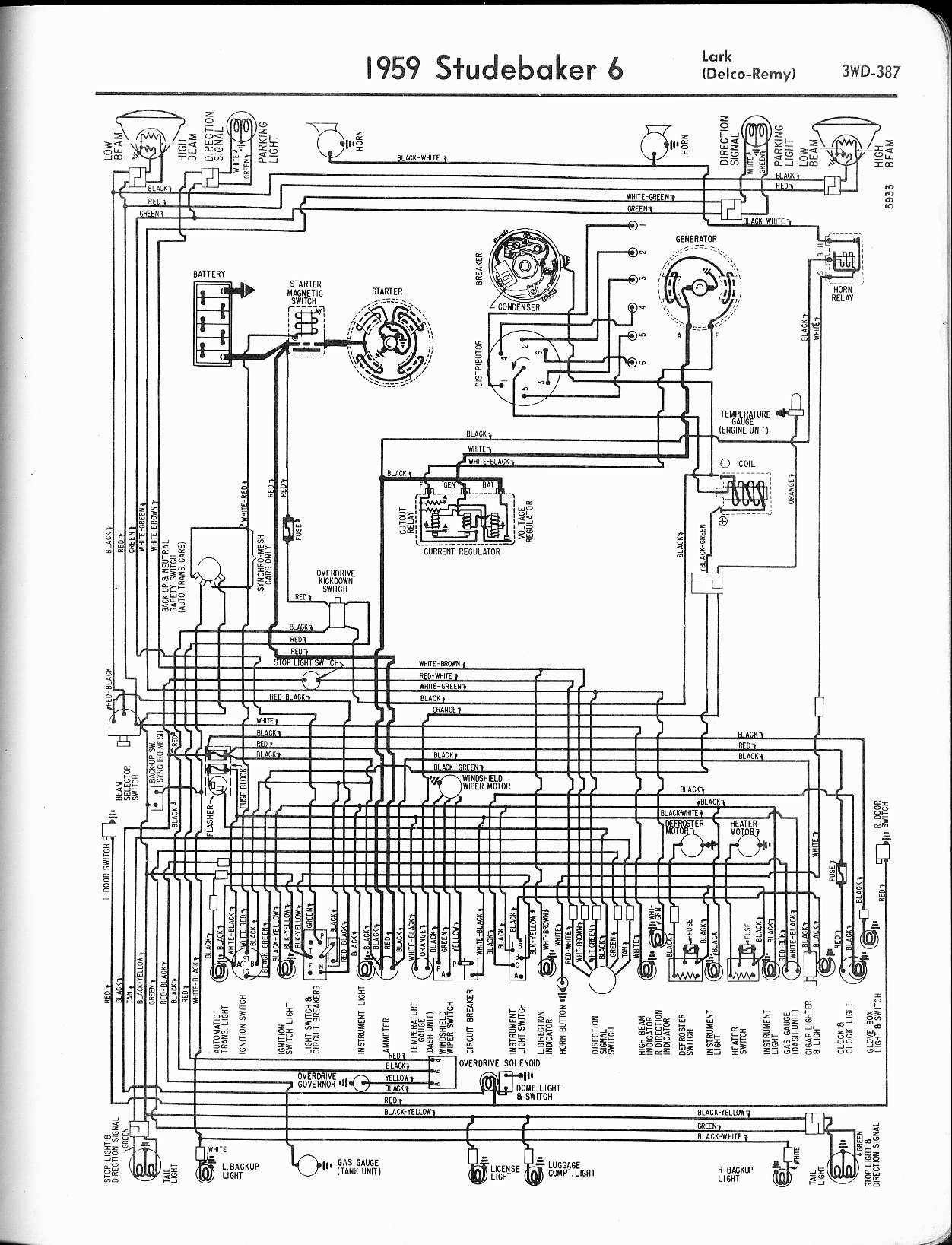 Wiring Diagram For 1959 Studebaker 6 Lark Delco Remy - Wiring ... on