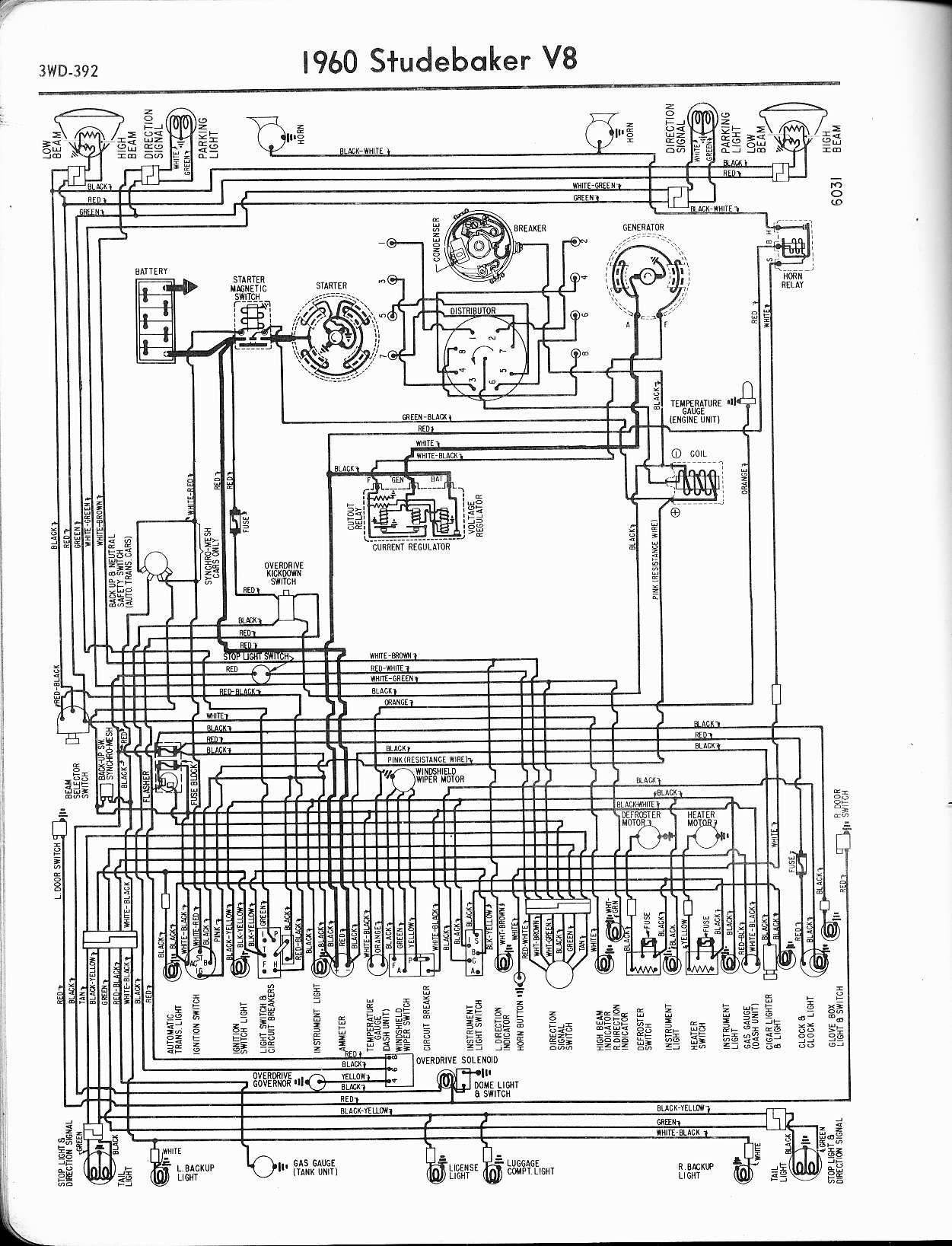 Old Car Manual Project Wiring Diagrams Schematics Studebaker Harness The Diagram 57 Ford Truck
