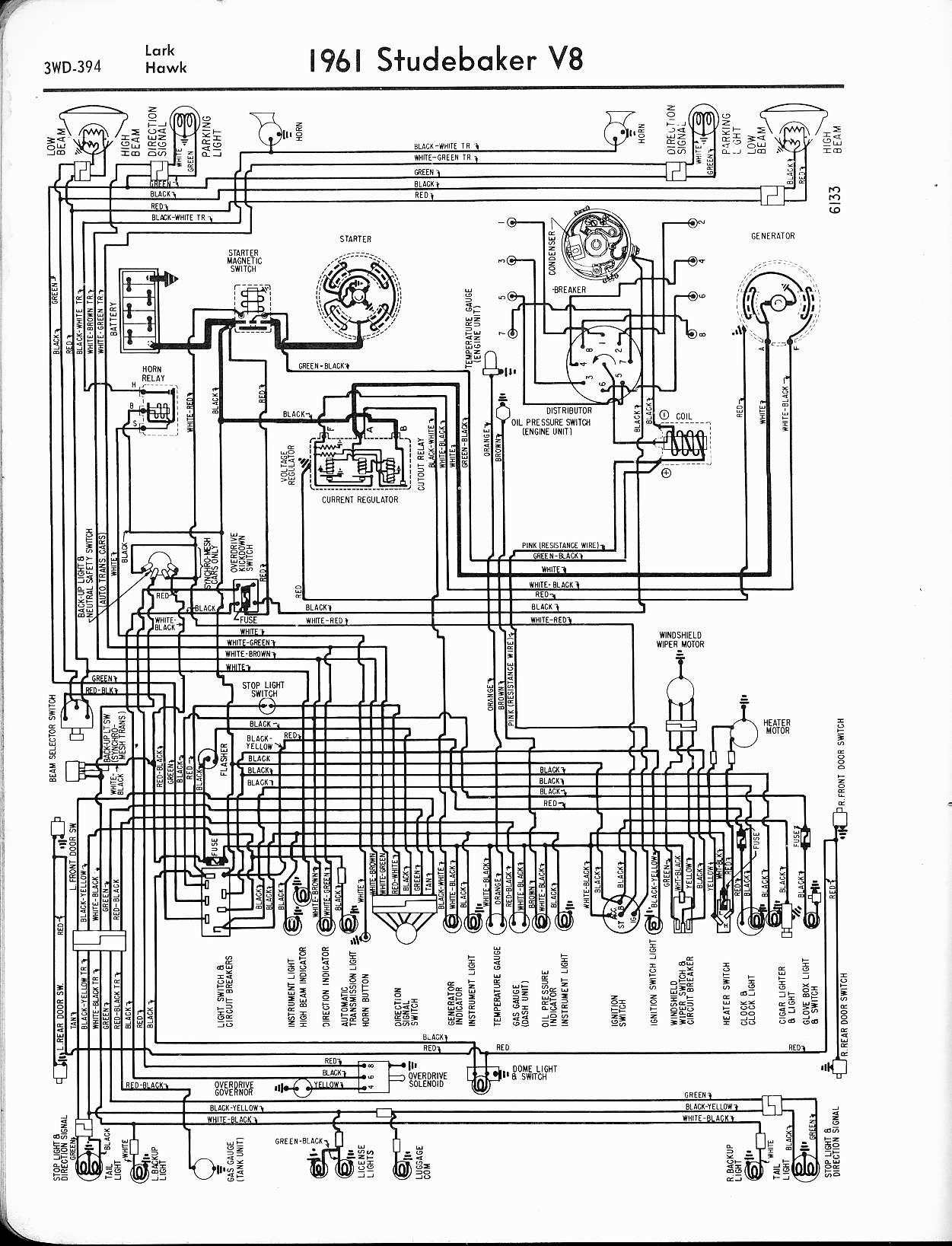 studebaker wiring diagrams the old car manual project rh oldcarmanualproject com 1963 Avanti Interior 1963 Studebaker Avanti R1