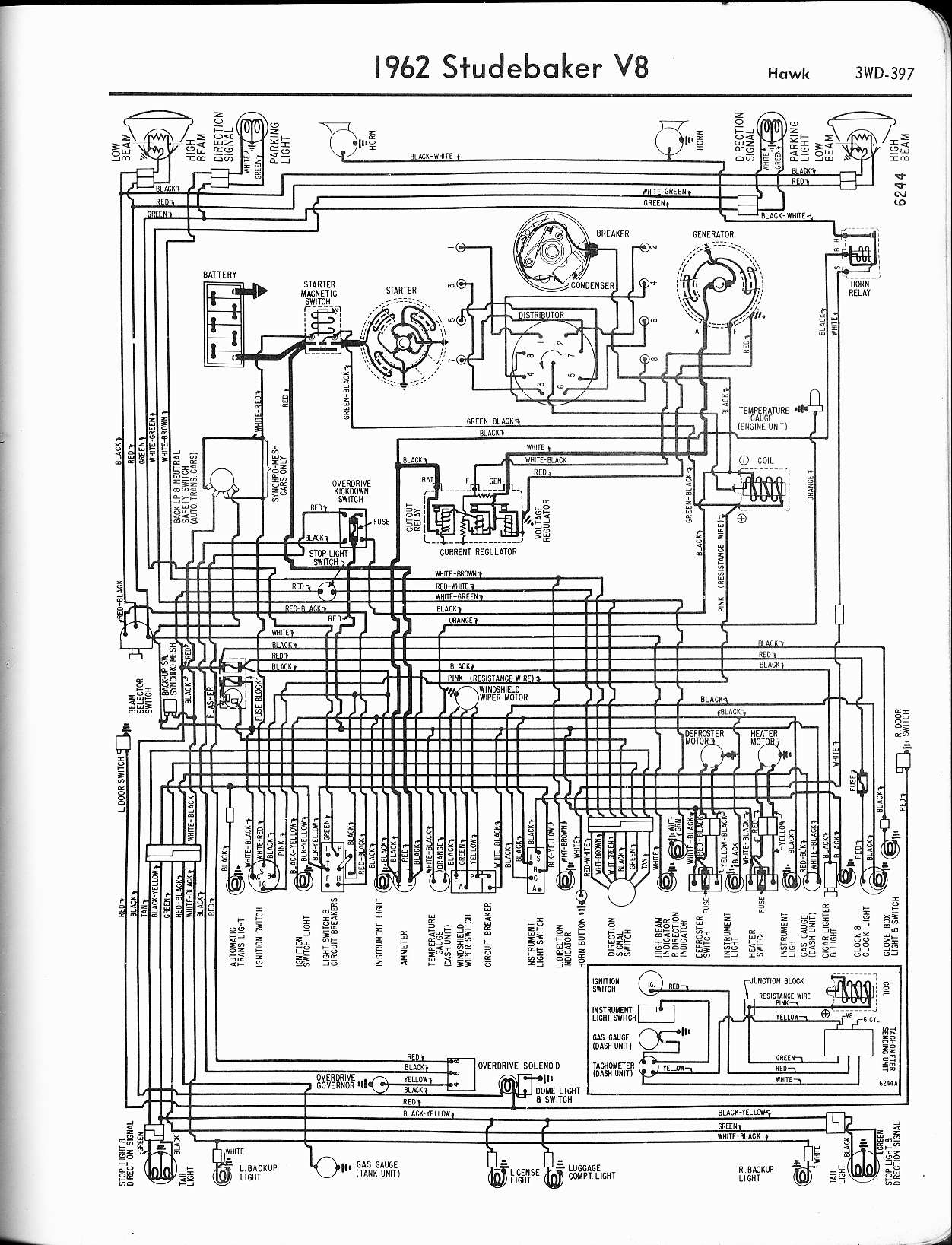 studebaker wiring diagrams the old car manual project rh oldcarmanualproject com 1981 Avanti 1963 Avanti Interior