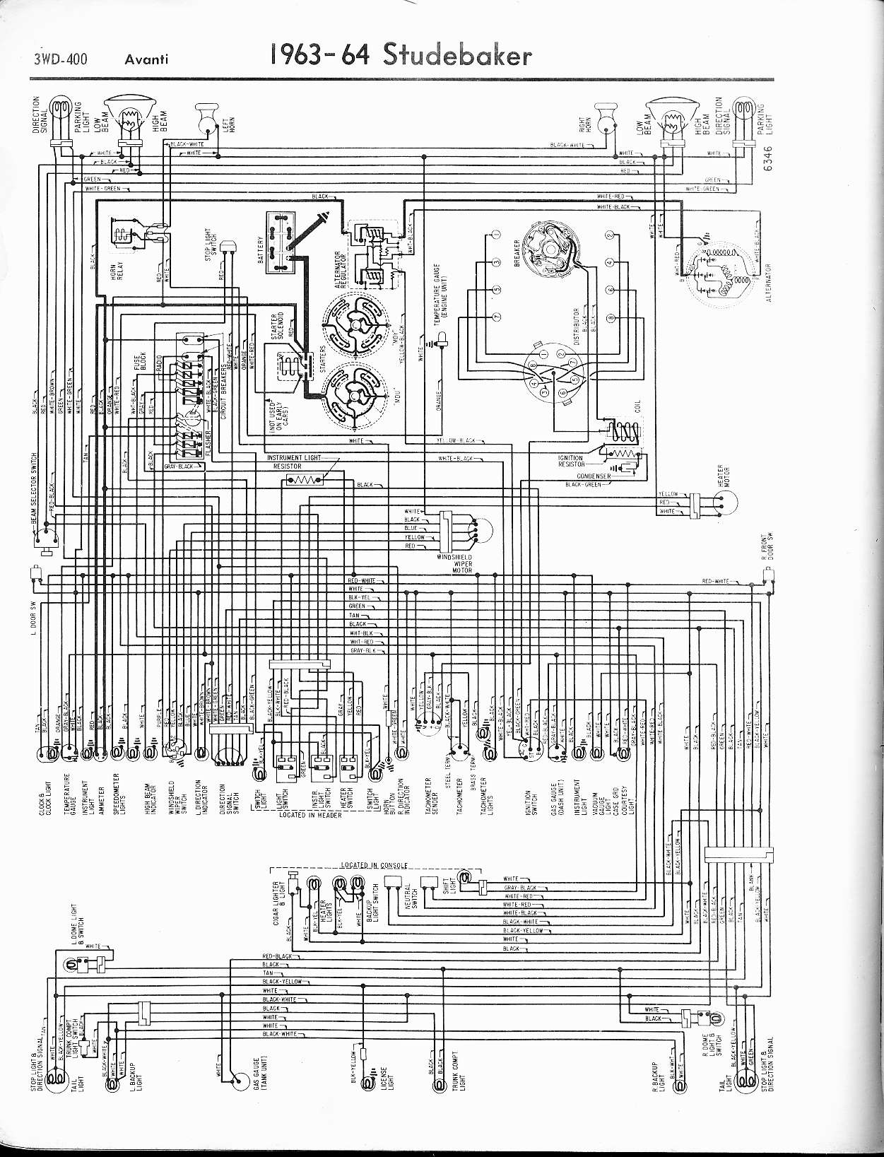 studebaker wiring diagrams the old car manual project 1965 6 cyl v8 · more stude wiring diagrams