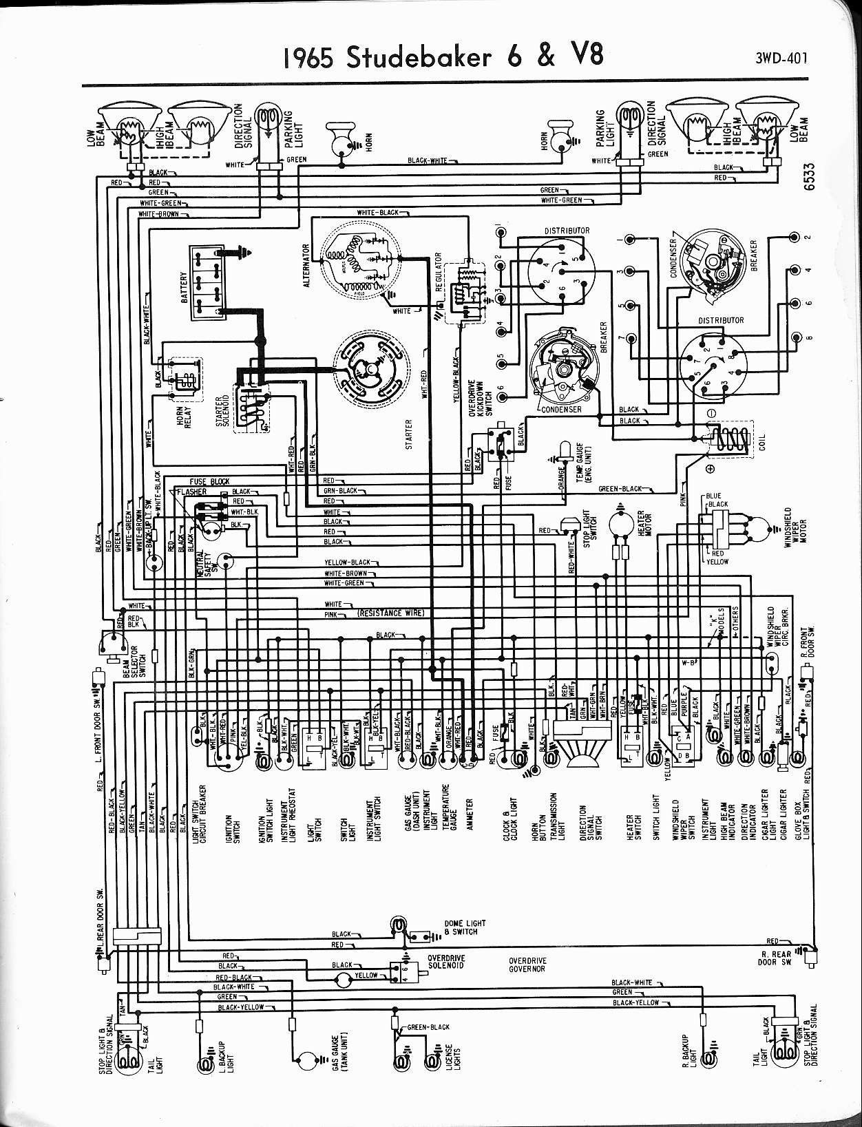 studebaker wiring diagrams the old car manual project rh oldcarmanualproject com Electrical Wiring Diagrams for Cars 2009 Club Car Wiring Diagram